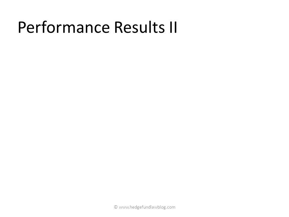 Performance Results II © www.hedgefundlawblog.com