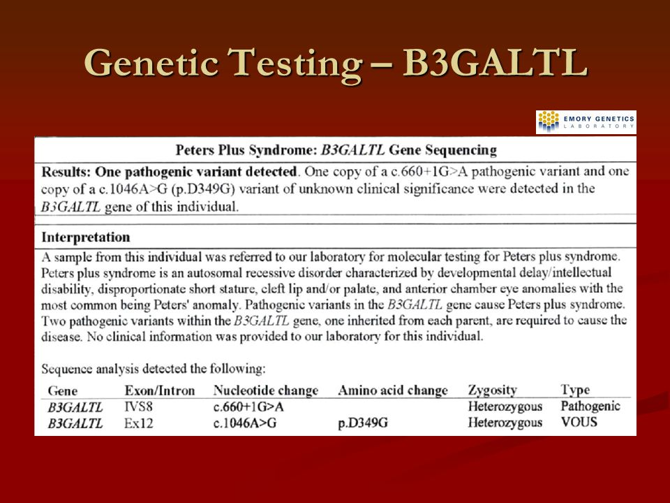 Genetic Testing – B3GALTL
