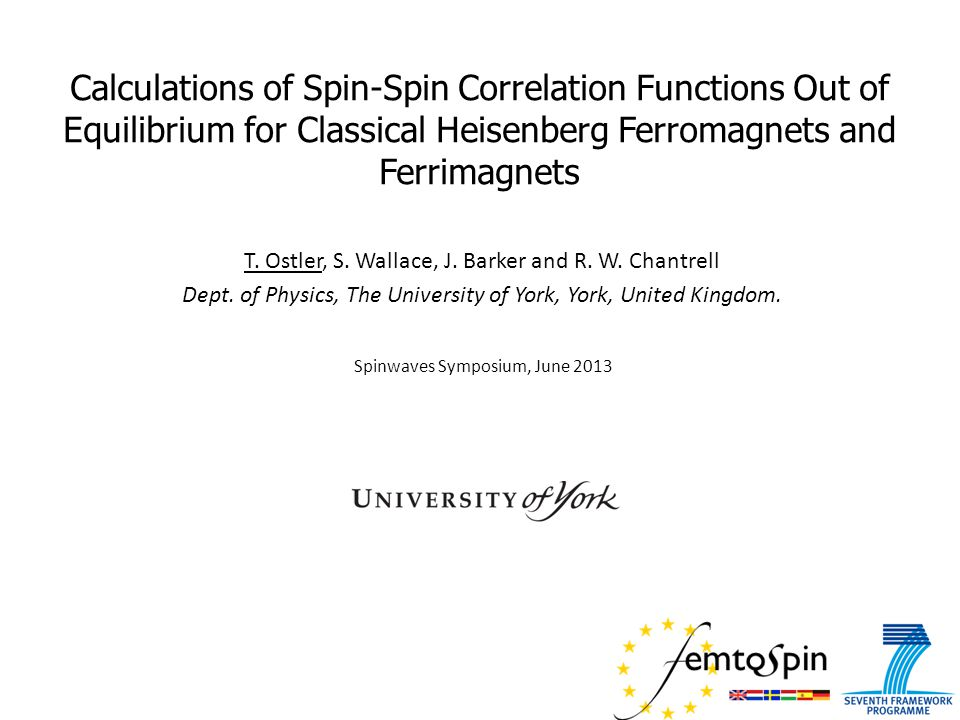 Summary & Conclusions  We have compared how correlations change in ferromagnetic and ferrimagnetic materials.