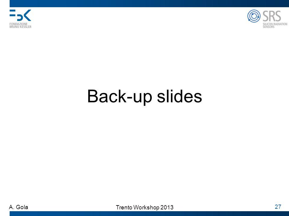 Trento Workshop 2013 A. Gola 27 Back-up slides