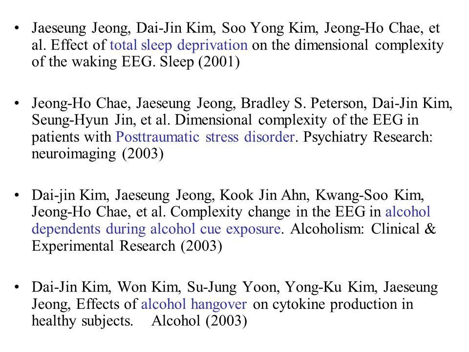 Jaeseung Jeong, Dai-Jin Kim, Soo Yong Kim, Jeong-Ho Chae, et al.