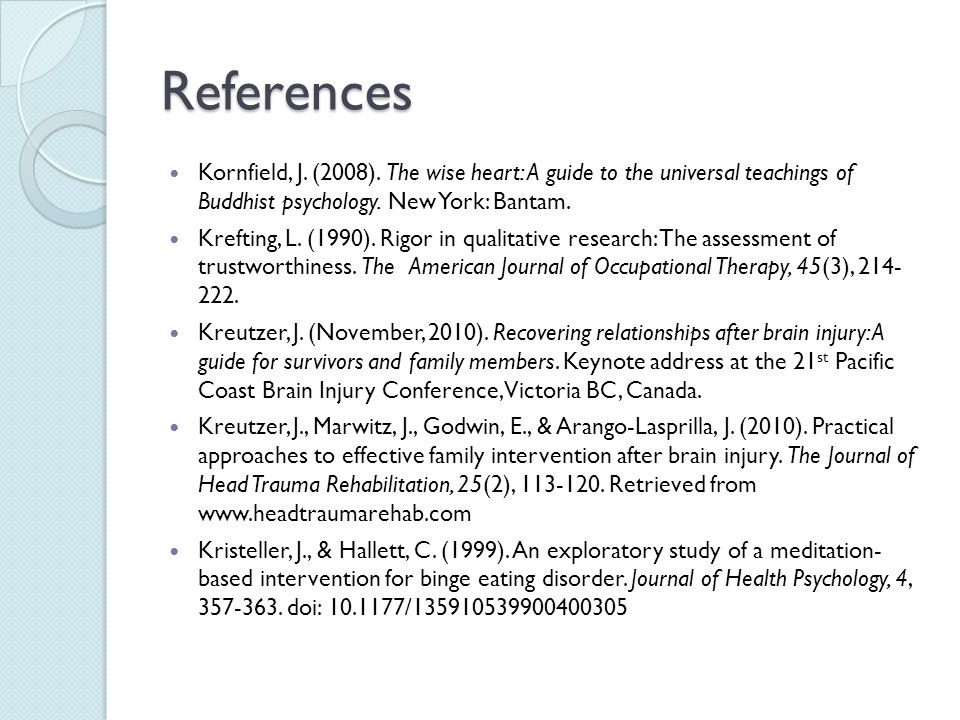 References Kornfield, J.(2008).