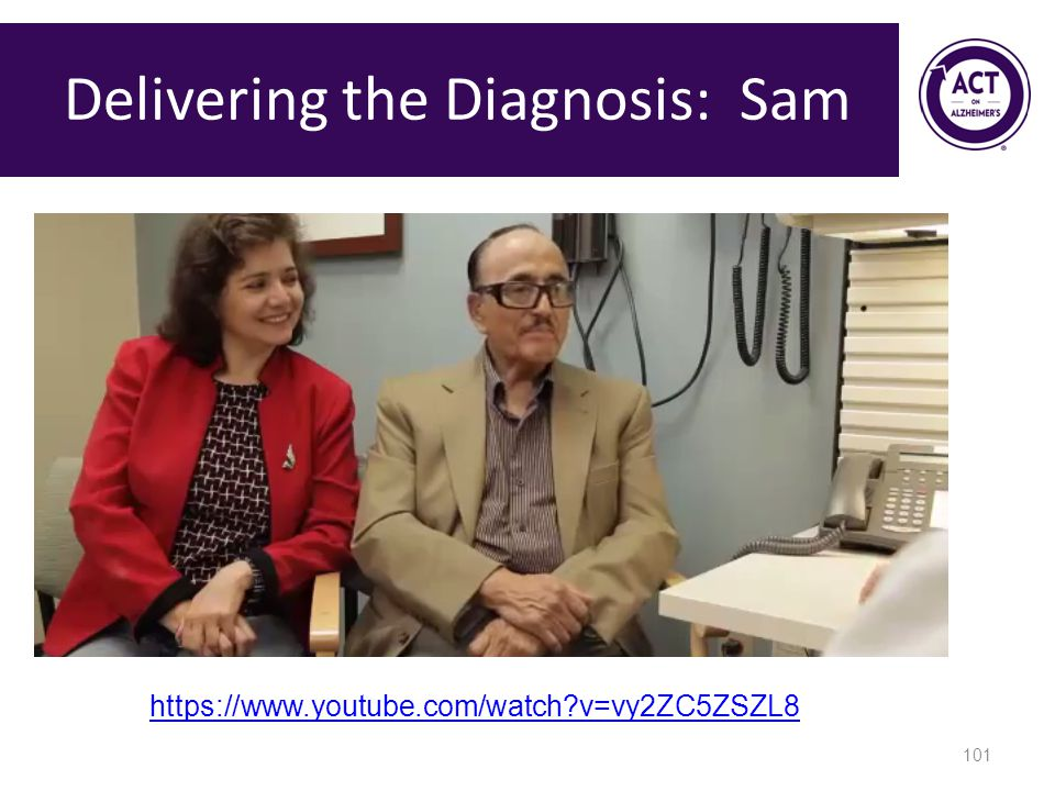 Delivering the Diagnosis: Sam 101 https://www.youtube.com/watch?v=vy2ZC5ZSZL8