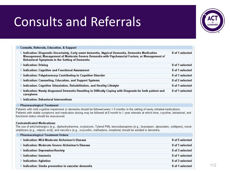Consults and Referrals 112