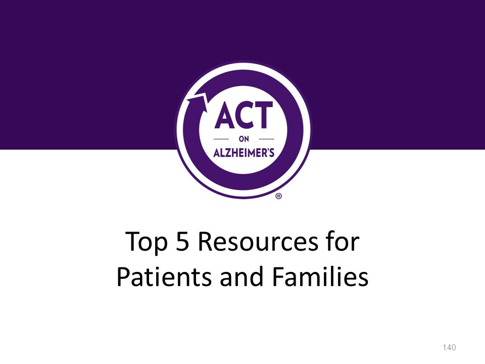 Top 5 Resources for Patients and Families 140
