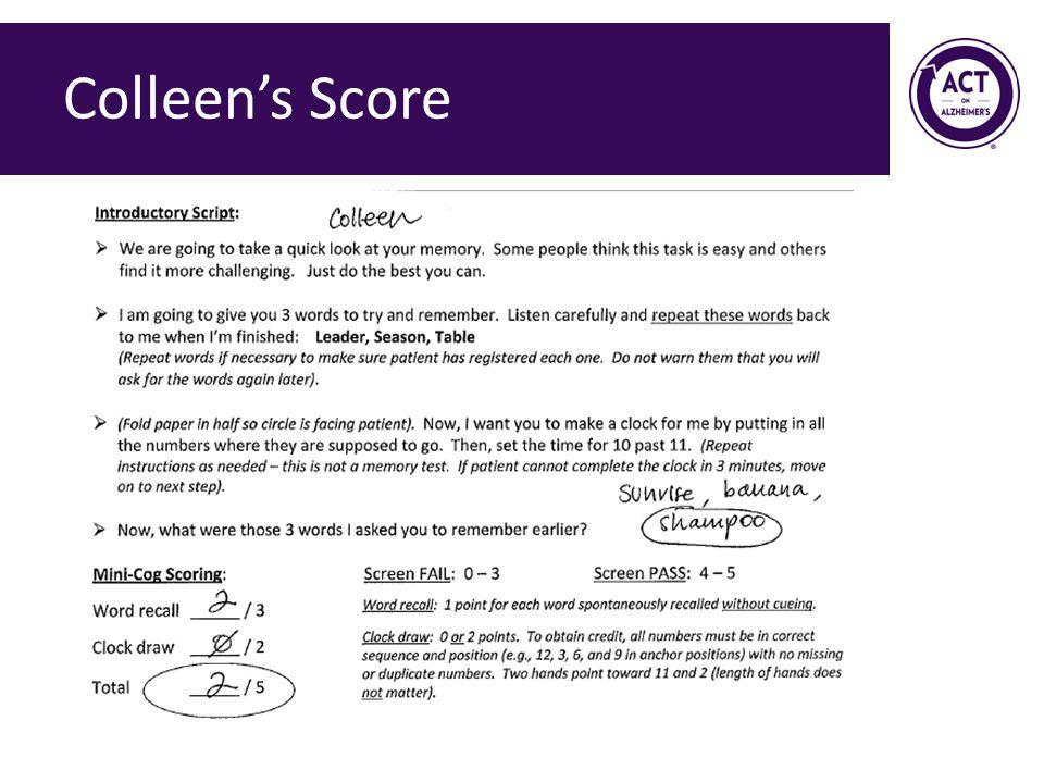 Colleen's Score
