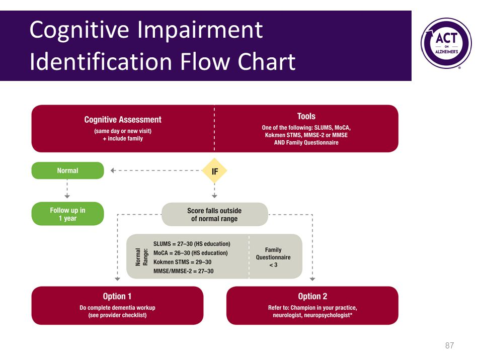 Cognitive Impairment Identification Flow Chart 87
