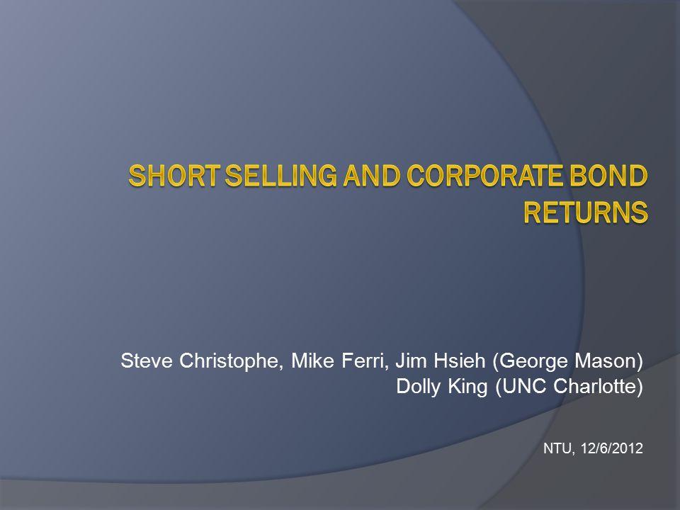 Steve Christophe, Mike Ferri, Jim Hsieh (George Mason) Dolly King (UNC Charlotte) NTU, 12/6/2012