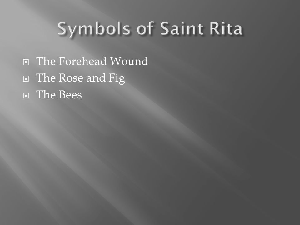  The Forehead Wound  The Rose and Fig  The Bees