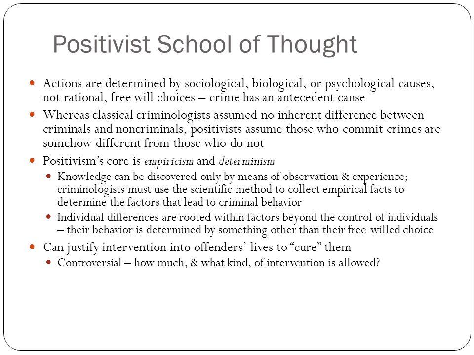 crime are positivist criminology essay