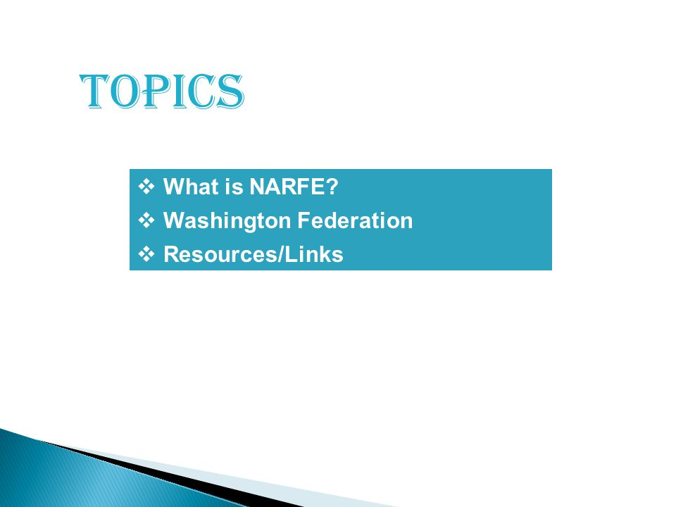 topics  What is NARFE 111  Resources/Links  Washington Federation