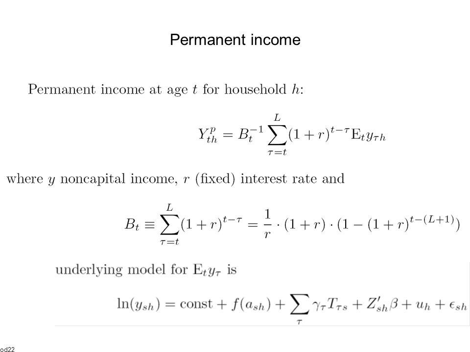 Permanent income od22