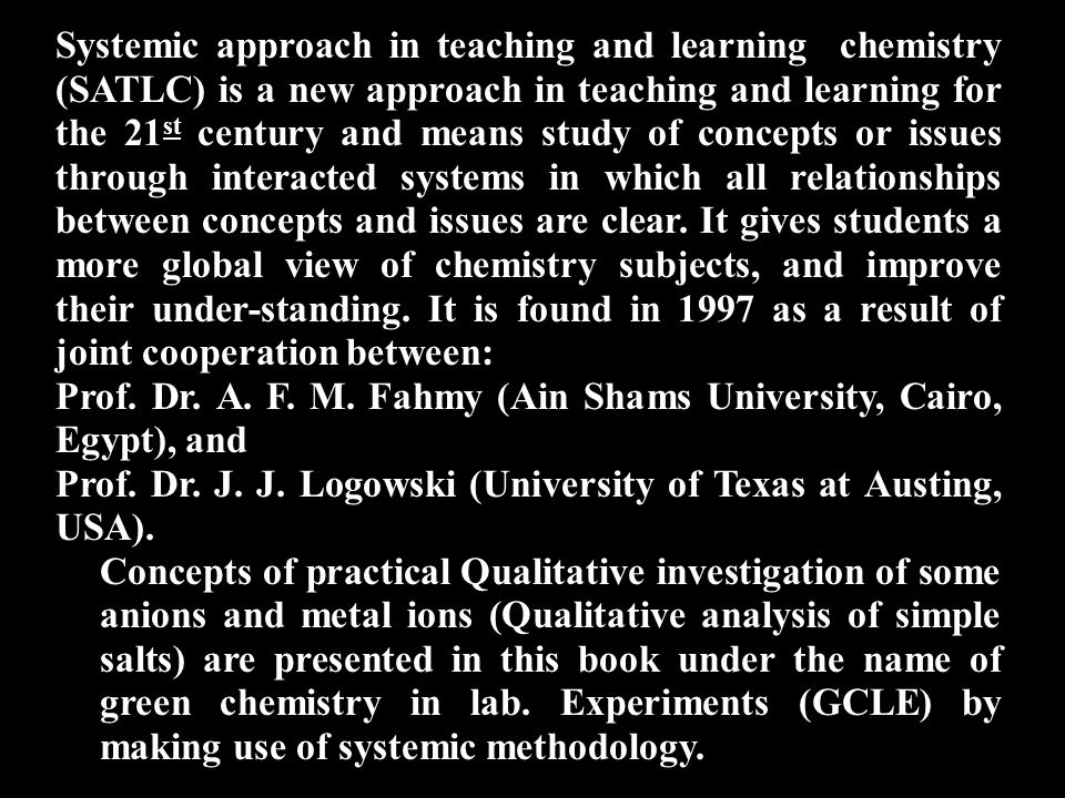 After studying this course, you are able to: (1) Save chemicals, and time.