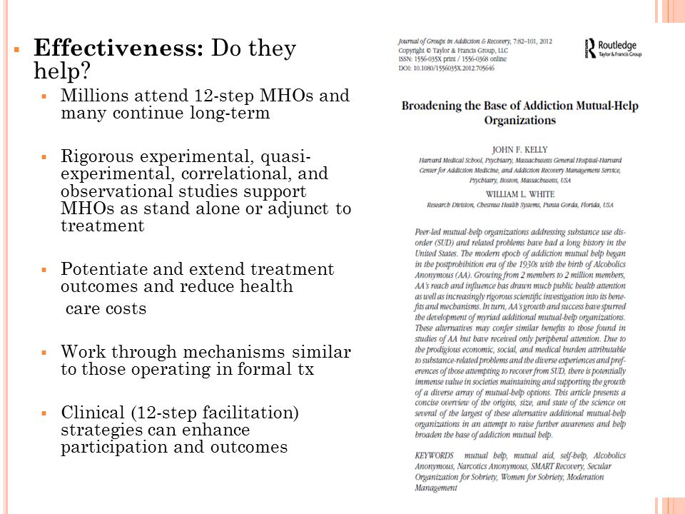  Effectiveness: Do they help.