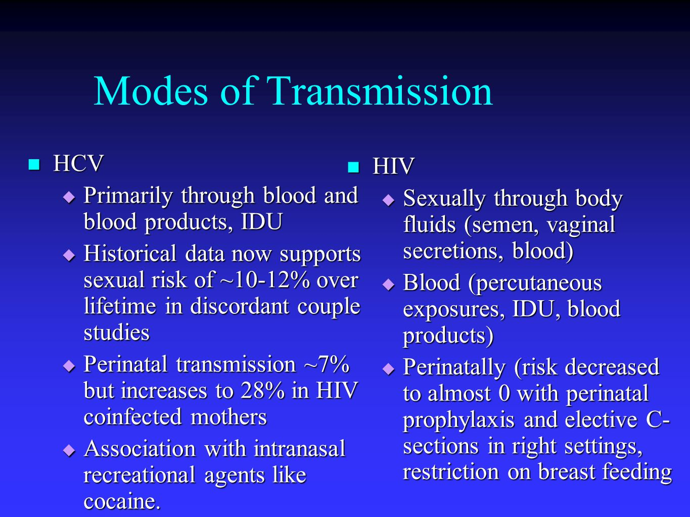 Determinants of HCV Clearance in coinfection