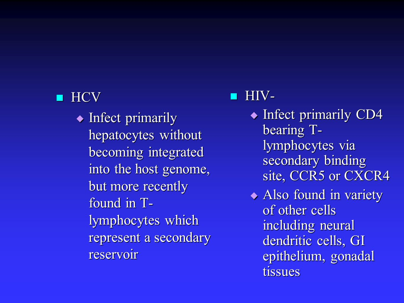 Impact of PI Containing regimens on HCV Benhamou Y et al, Hepatology 2001;34:283-7 PI Containing Non PI based Regimens P value Fibrosis Score 1.25+/-0.111.53+/-0.090.02 Inflammation Score 1.69+/-0.172.10+/-0.110.03 Multivariate factors associated with HCV progression: absence of PI based therapy; CD4 count 5g/d; age >20 at time of infection.