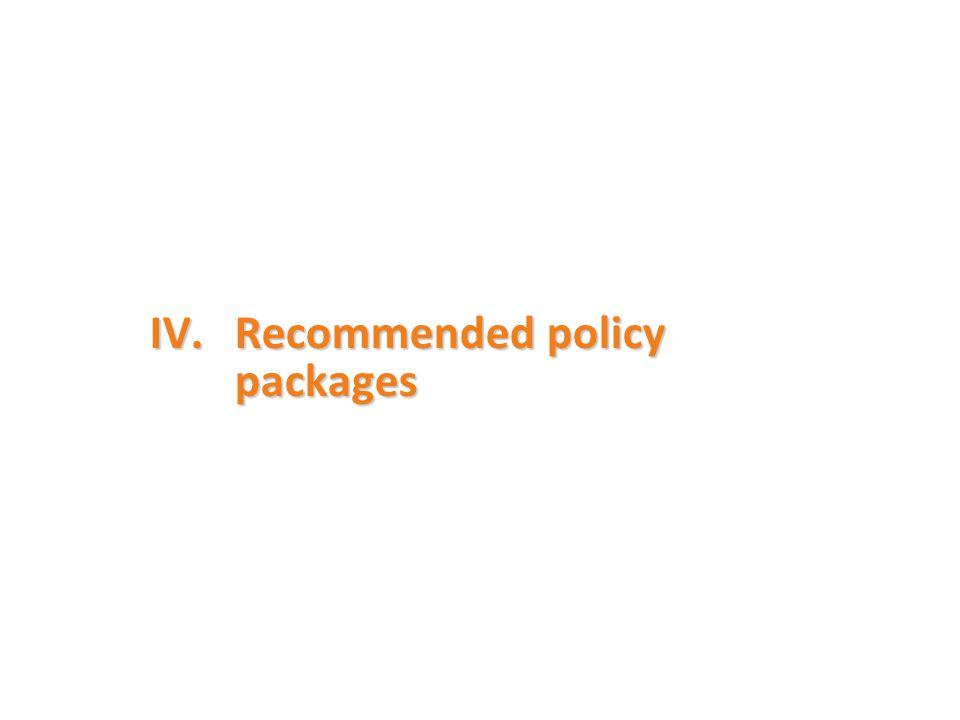 IV.Recommended policy packages