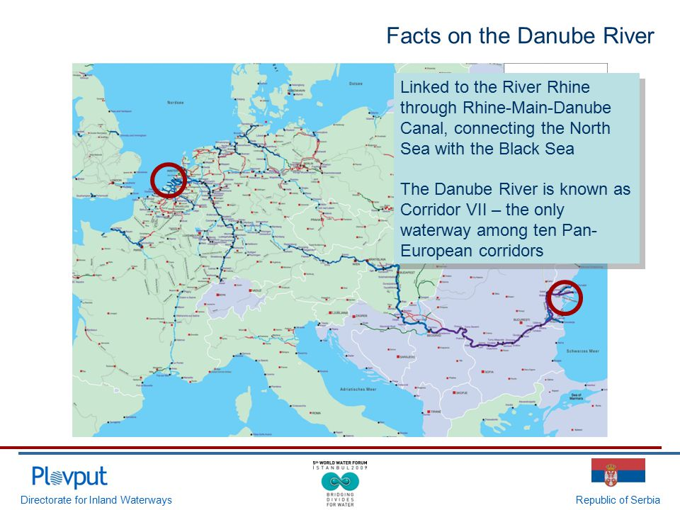 Directorate for Inland WaterwaysRepublic of Serbia Linked to the River Rhine through Rhine-Main-Danube Canal, connecting the North Sea with the Black