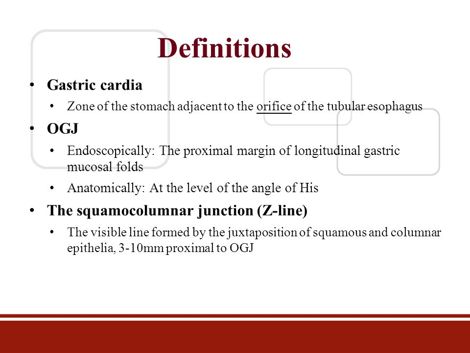 Classification of OGJ tumour Described by Dr.