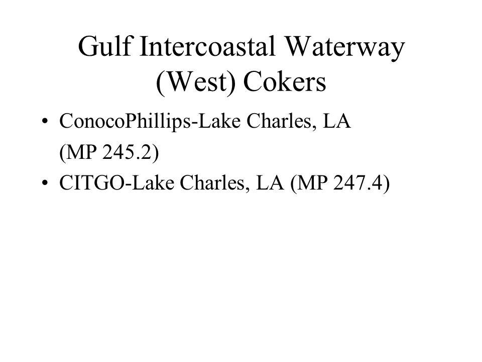 Gulf Intercoastal Waterway (West) Cokers ConocoPhillips-Lake Charles, LA (MP 245.2) CITGO-Lake Charles, LA (MP 247.4)