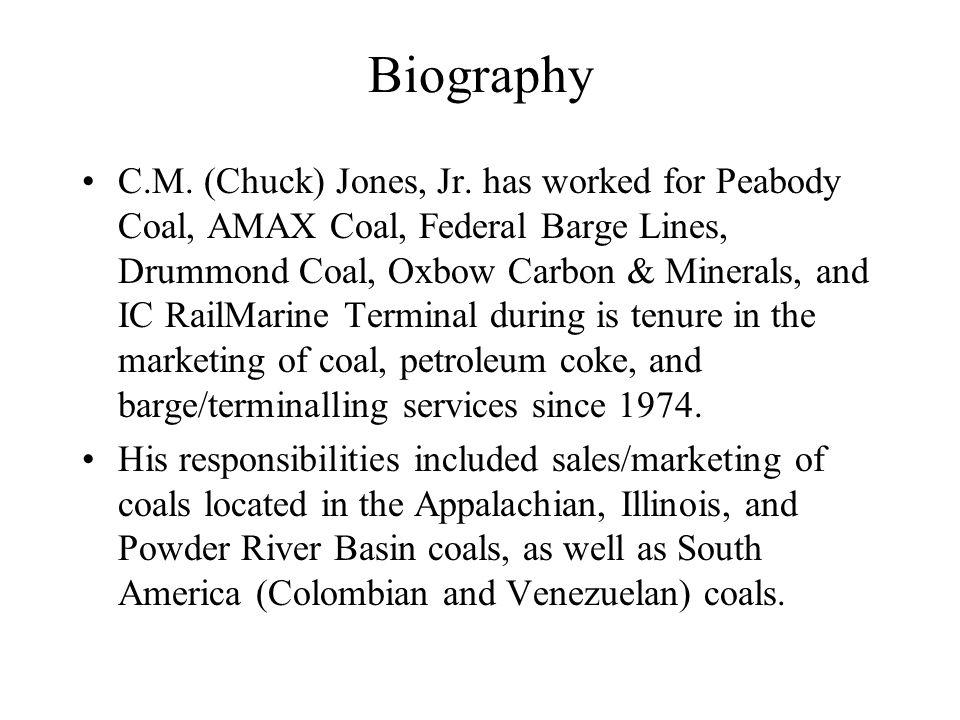Biography C.M.(Chuck) Jones, Jr.