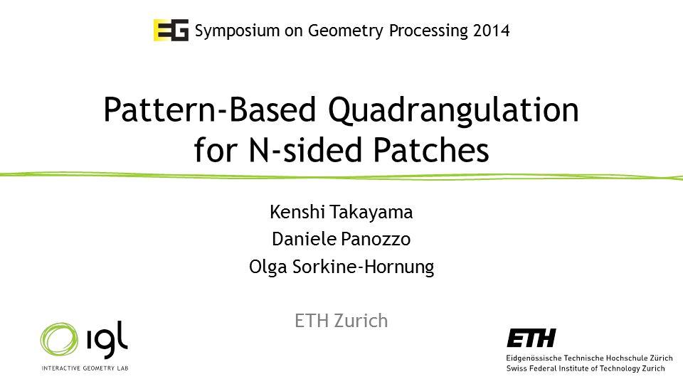 Quad meshing is important 210 July 2014Kenshi Takayama Subdivision surfacesFinite element analysis