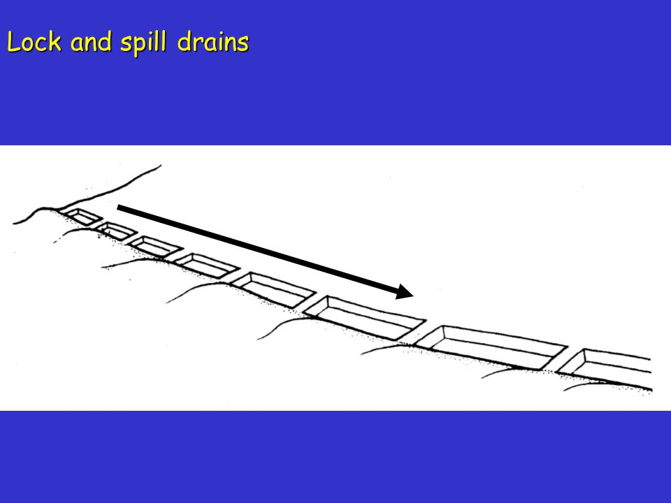 Lock and spill drains