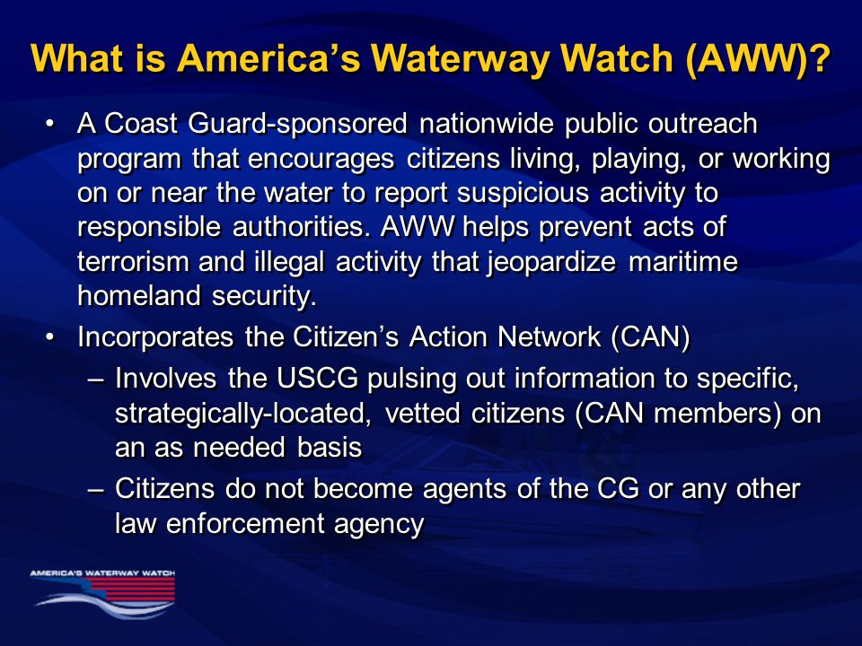 What is America's Waterway Watch (AWW).