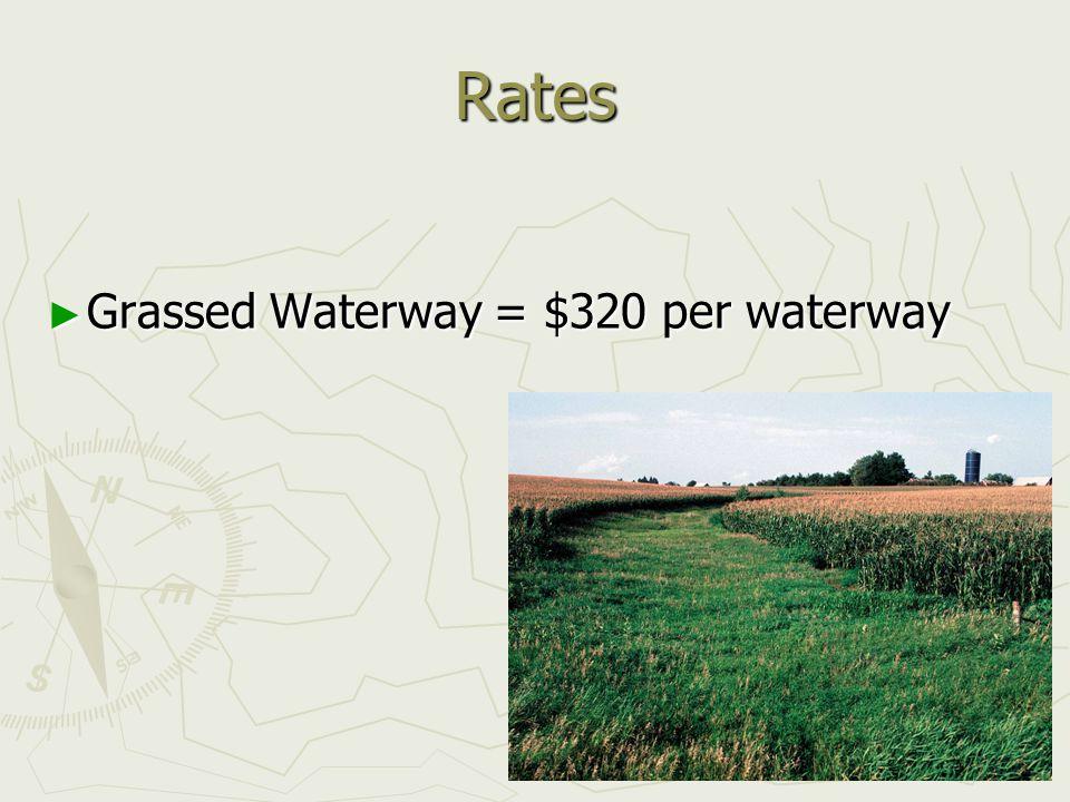 Rates ► Grassed Waterway = $320 per waterway