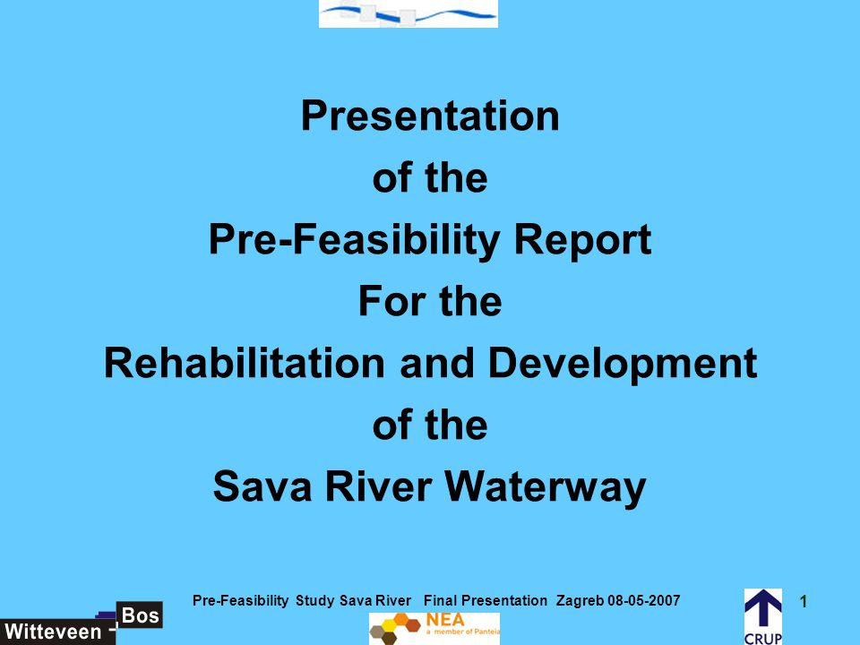 42 Pre-Feasibility Study Sava River Final Presentation Zagreb 08-05-2007 Framework conditions for the functioning of the inland waterways transport industry The adequate functioning of an inland waterway transport industry requires that IWT-operators and their customers will be able to conduct their business and will be able to conclude transport contracts, as efficiently as possible.