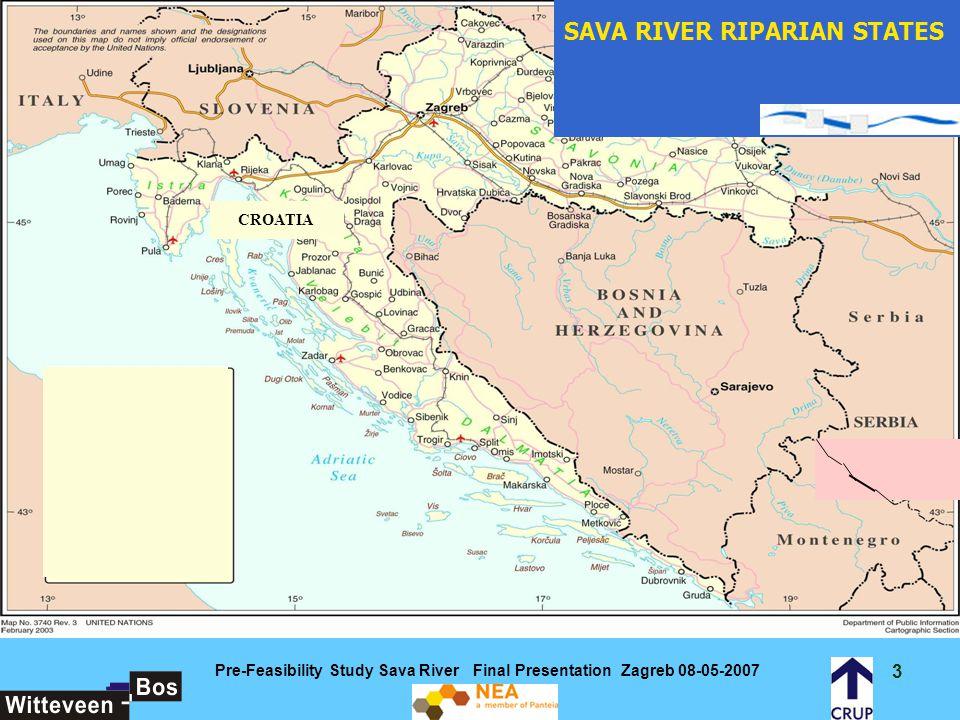 24 Pre-Feasibility Study Sava River Final Presentation Zagreb 08-05-2007 Locations to be improved