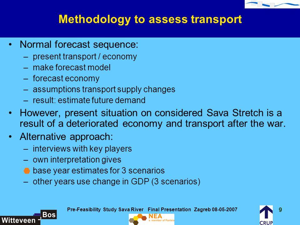 50 Pre-Feasibility Study Sava River Final Presentation Zagreb 08-05-2007 Benefits for the various scenarios