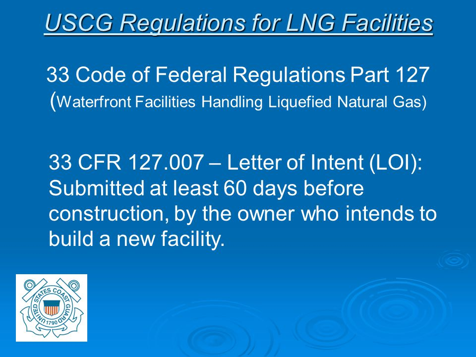 Letter of Intent (Cont)   The LOI must contain: - Owner and operator information, physical location of the facility.