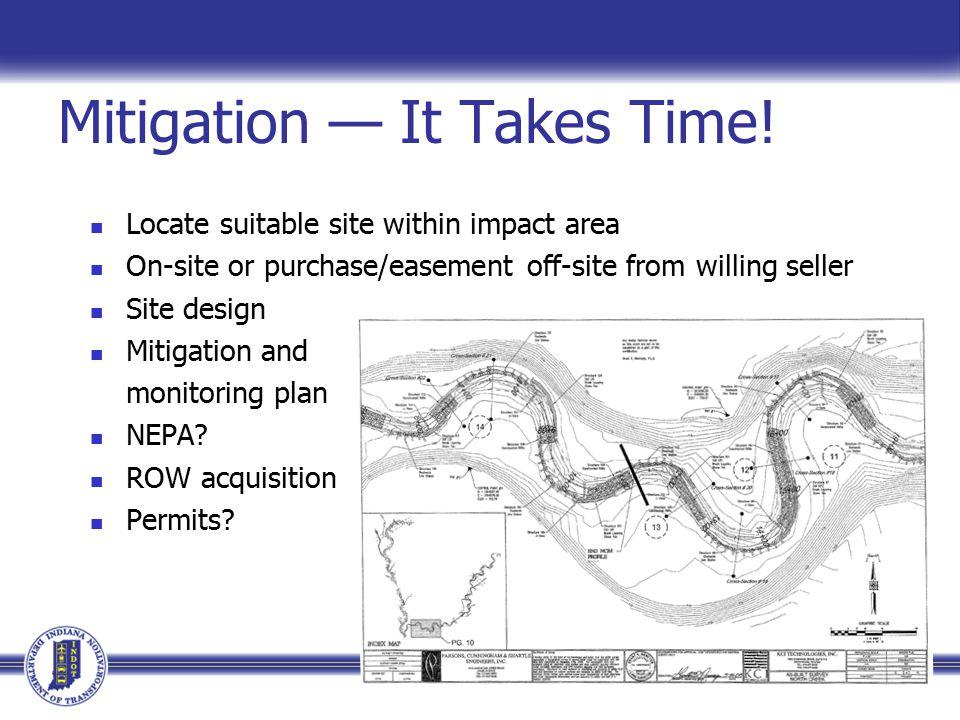 Mitigation — It Takes Time.