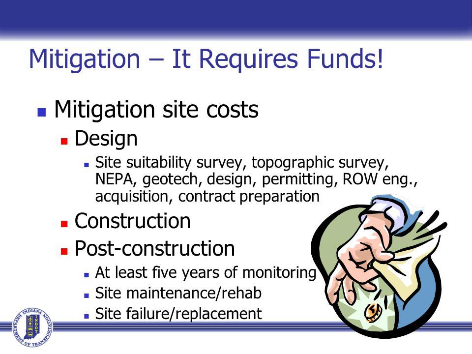 Mitigation – It Requires Funds.