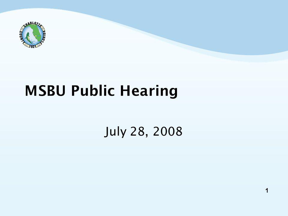 1 MSBU Public Hearing July 28, 2008