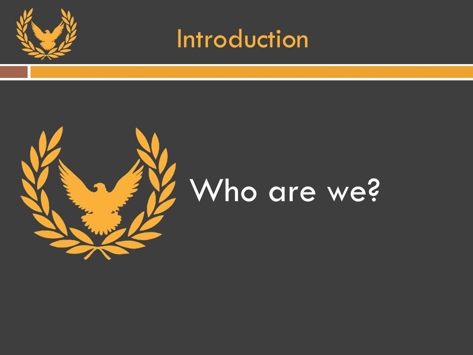 Introduction Who are we