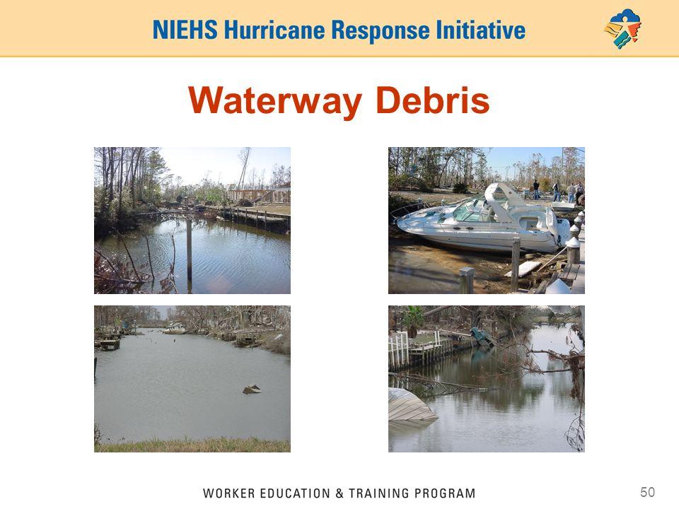 50 Waterway Debris