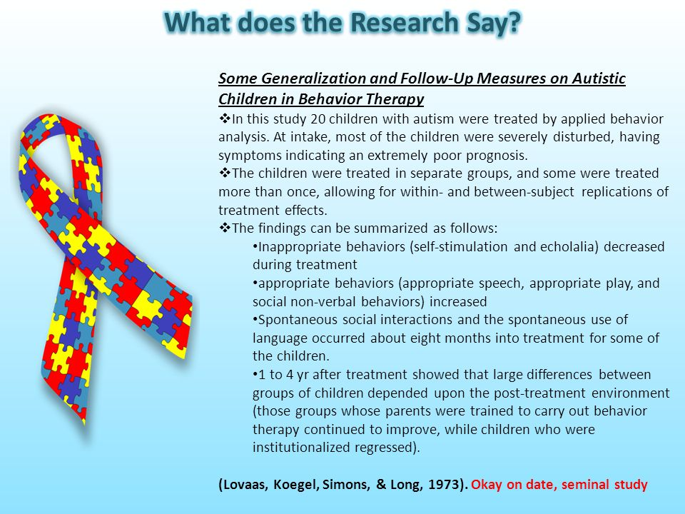 Effects of an Individual Work System on the Independent Functioning of Students with Autism  This study examined the effects of a work system on the independent work and play skills of students with autism.