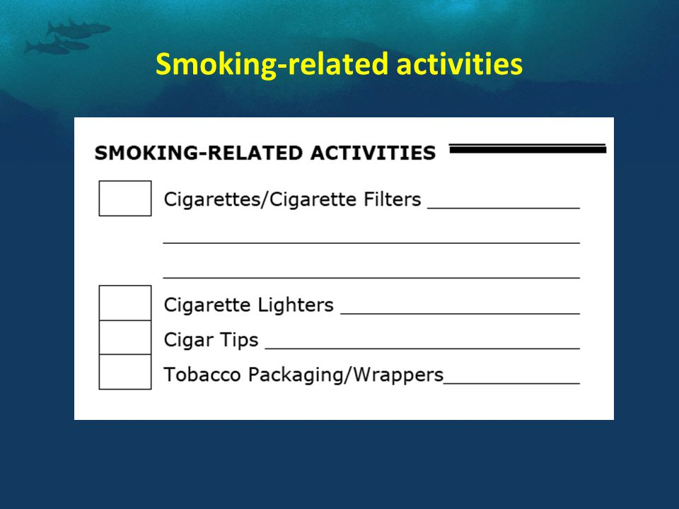 Smoking-related activities