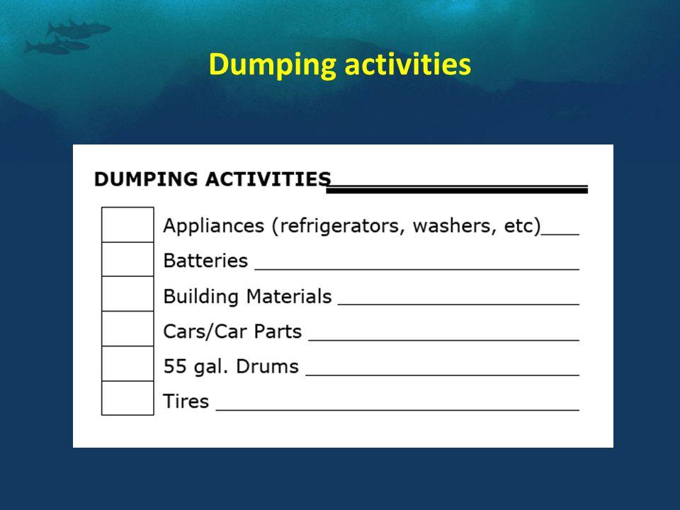Dumping activities