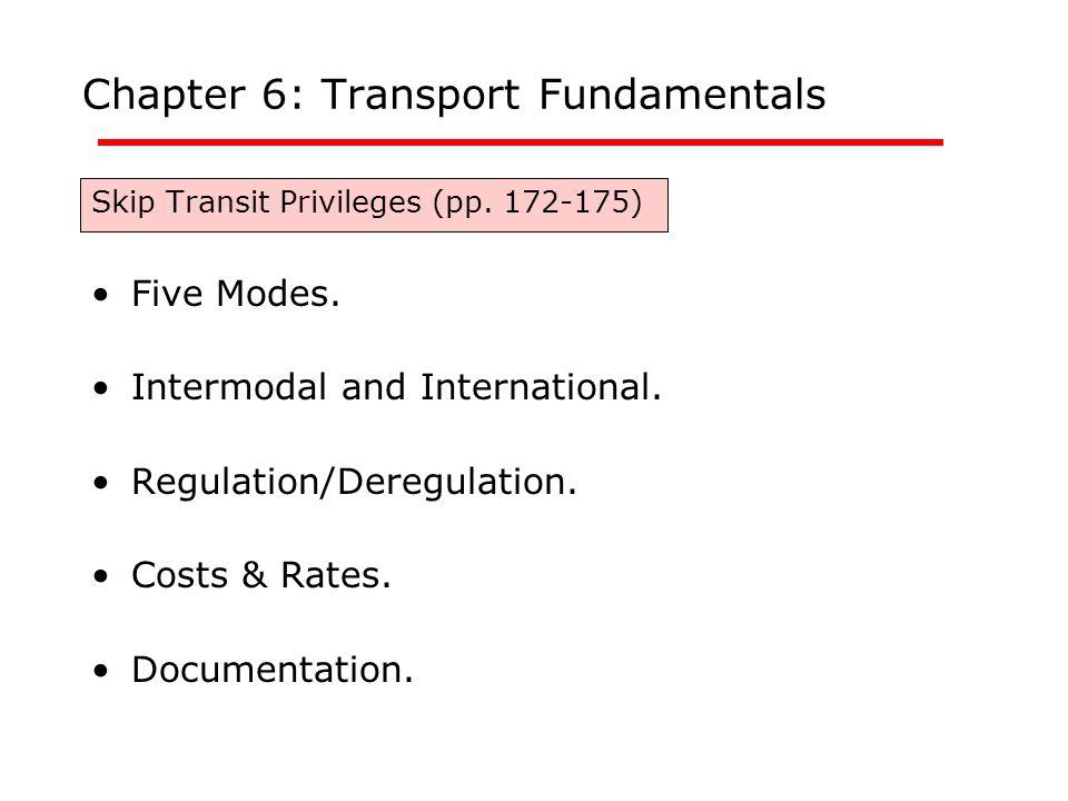 Chapter 6: Transport Fundamentals Skip Transit Privileges (pp.