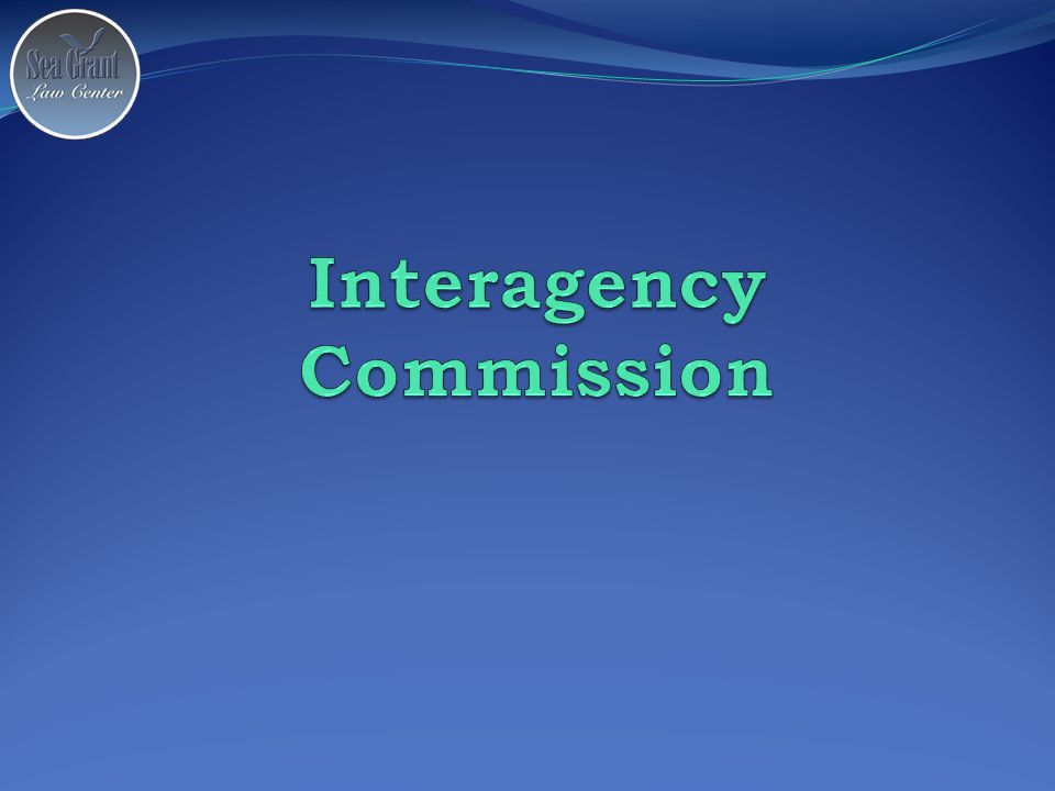 Interagency Commission Created legislatively Operates within an agency, funded as a line-item in the agency's budget.