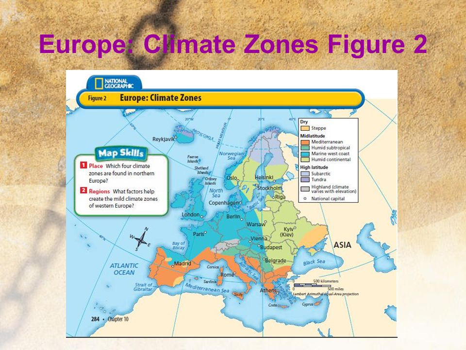 Europe: Climate Zones Figure 2