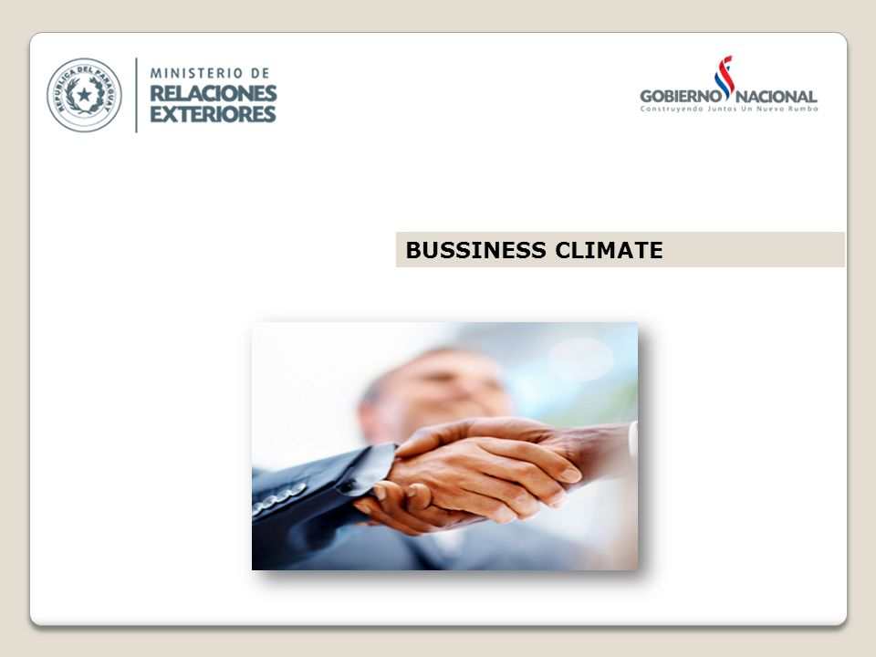 BUSSINESS CLIMATE