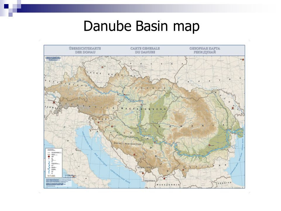 Danube Basin map