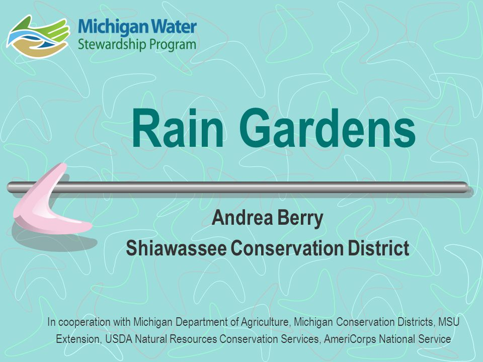 Building a Rain Garden, cont.