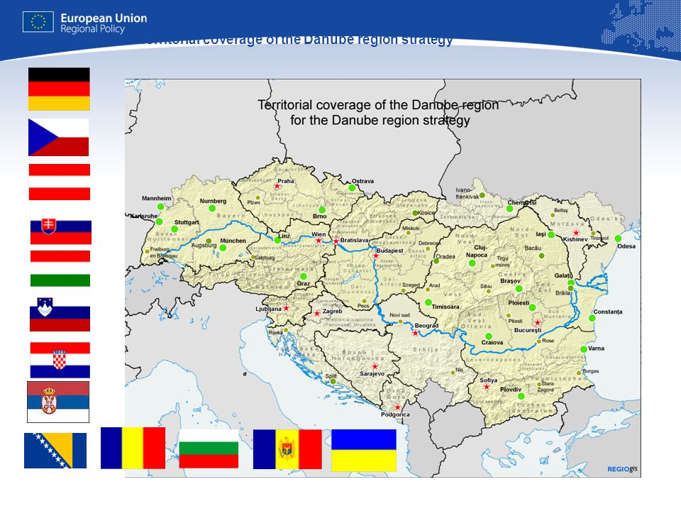 9 Territorial coverage of the Danube region strategy