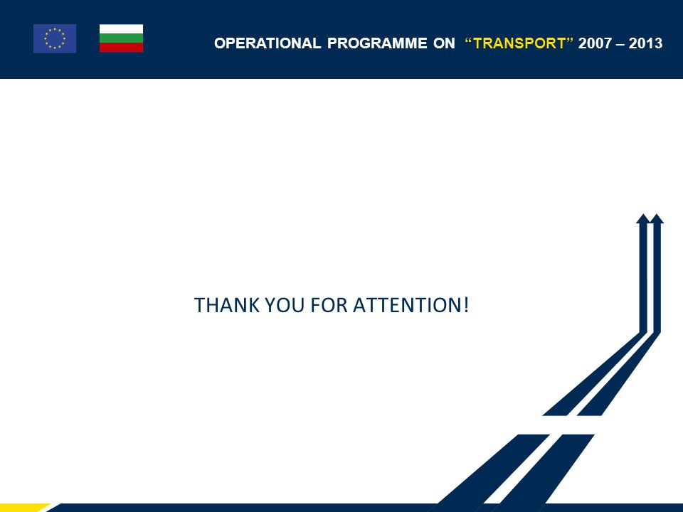 OPERATIONAL PROGRAMME ON TRANSPORT 2007 – 2013 THANK YOU FOR ATTENTION!