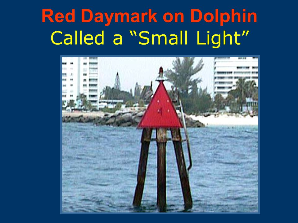Lighted Red Buoy
